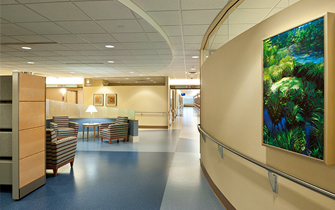 Regions Hospital - Patients & Guests - Curved lobby wall