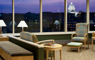 Regions Hospital - Patients & Guests - Night lobby