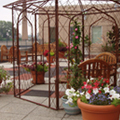 Regions Hospital - Burn Center - Patio with metal gazebo