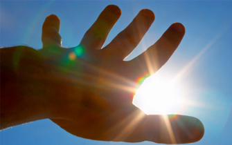Regions Hospital - Burn Center - Hands in sun