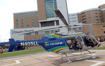 Regions Hospital - Level I Adult & Level I Pediatric Trauma Center - Trauma helicoptor