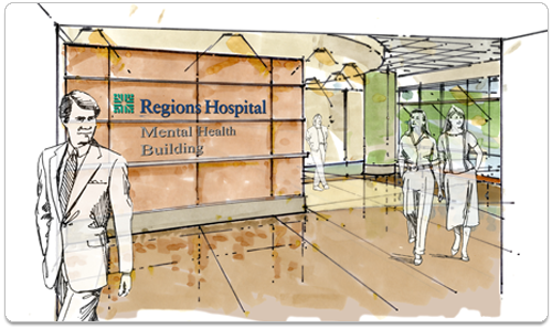 Regions Hospital - Mental Health - New Mental Health Facility - Virtual tour