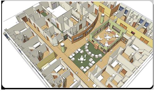 Mental health building st paul minnesota for Floor plans health care facilities