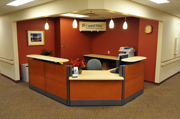 Regions Hospital - Capitol View Transitional Care Center - Picture of the front desk