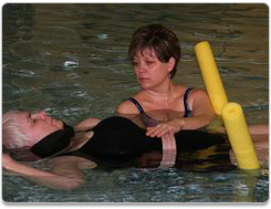 Regions Hospital - Rehabilitation Institute - Woman on back - Pool Therapy