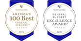 America's 100 Best General Surgery and General Surgery Excellence award icons 2017